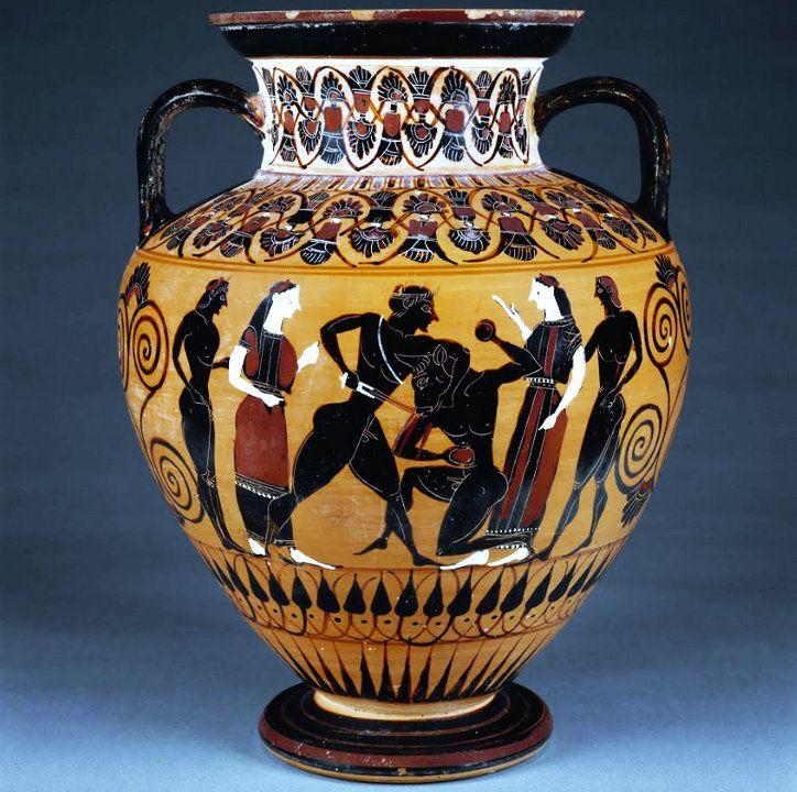 Древнегреческая ваза: рисунок