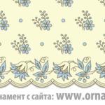 Текстильный орнамент эпохи регентства, Англия