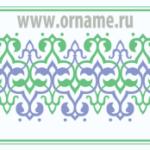 Растительный орнамент в полосе (арабский стиль)