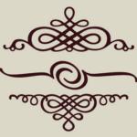 Каллиграфические декоративные элементы