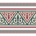 Старинный Русский орнамент в полосе
