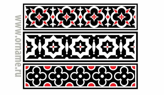 Геометрические орнаменты в полосе